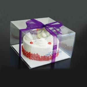 China top factory safe certificated clear cake box supplier